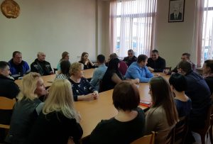 Встреча с представителями Московского РУВД по вопросам семейного насилия и семейно-бытовых правонарушений.