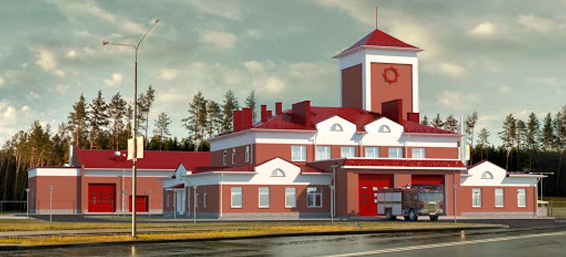 Строительство пожарной аварийно-спасательной части на территории Китайско-белорусского индустриального парка